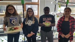 Fifth Graders share their harvest