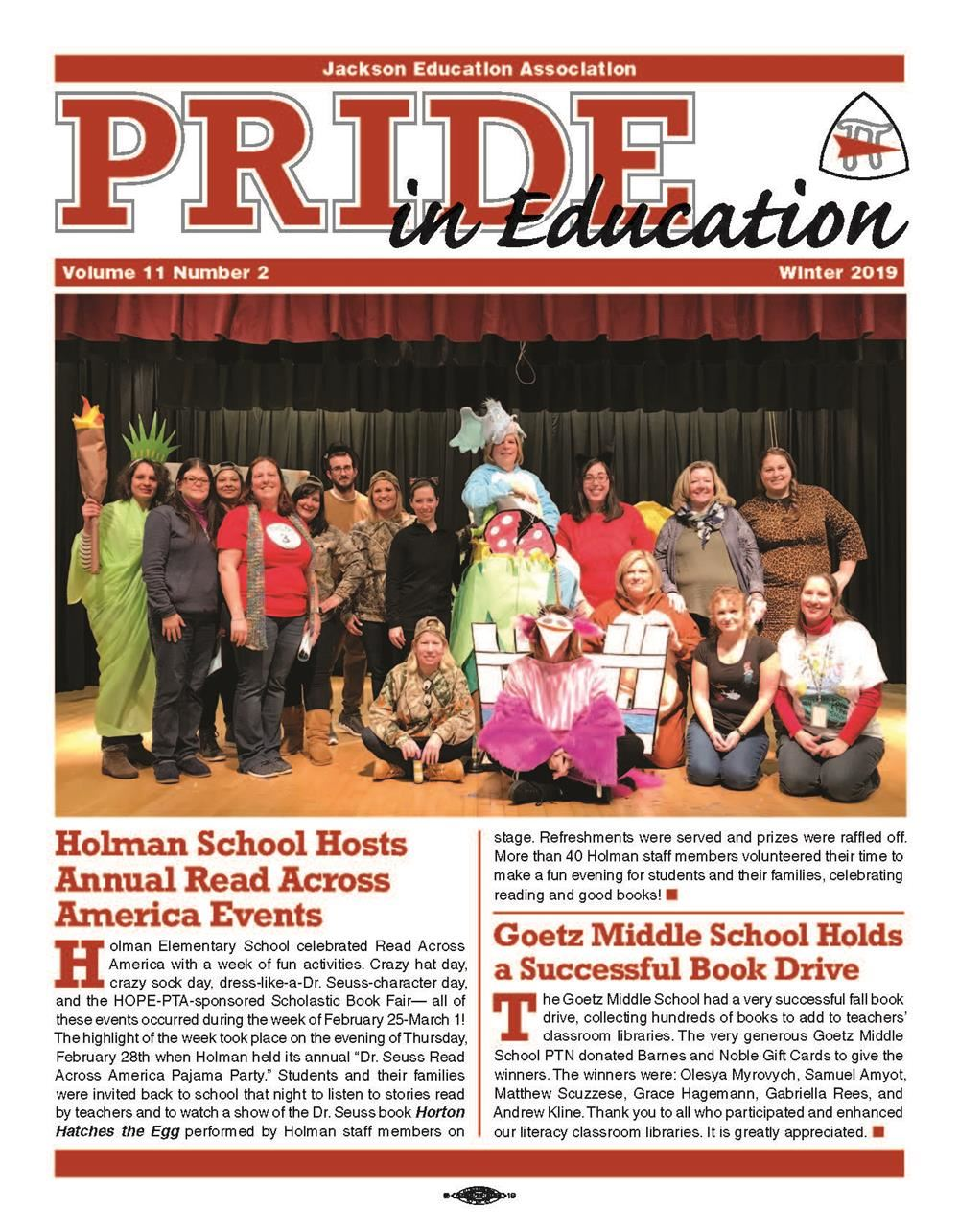 Pride Newsletter snapshot of first page