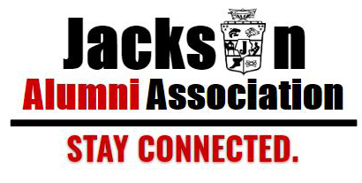 Logo of alumni association that reads Stay Connected