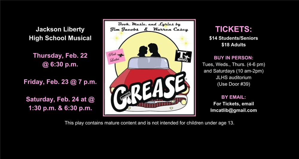 Grease Poster for Play
