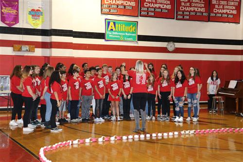 Chorus students participate in the Project Fit Opening
