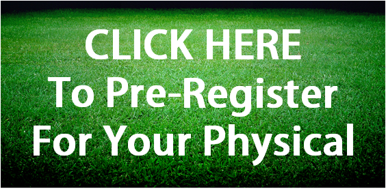 sign asking people to sign up for physicals