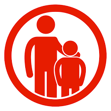 Logo showing caregiver and child