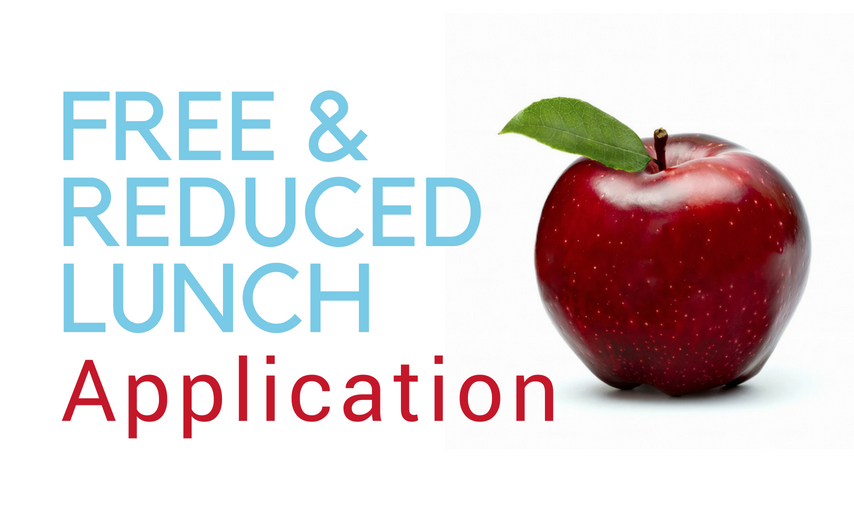 Free and reduced lunch sign with apple