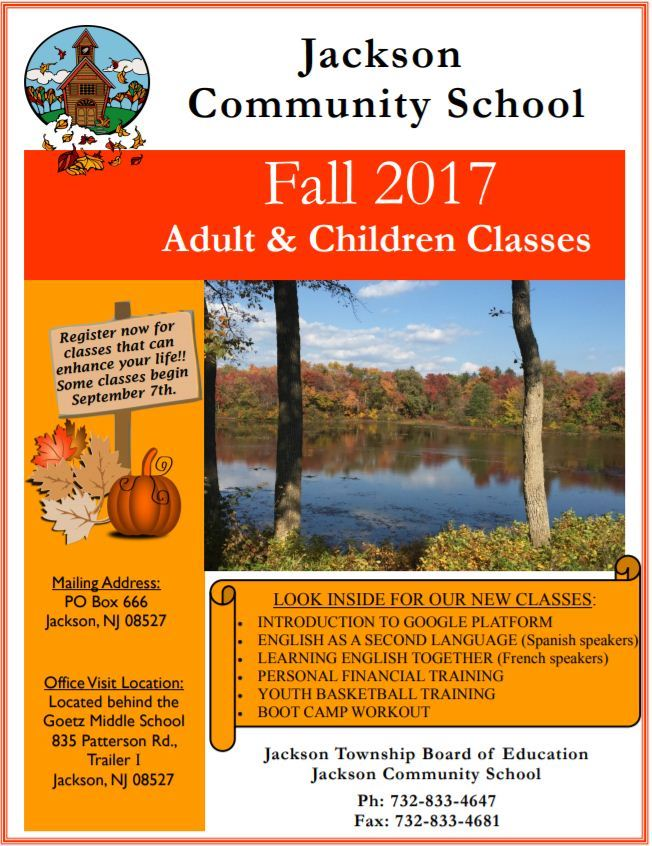 Fall Community School Brochure
