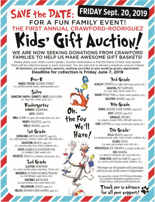 Kids gift auction