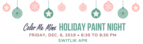 Color Me Mine Holiday Paint Night