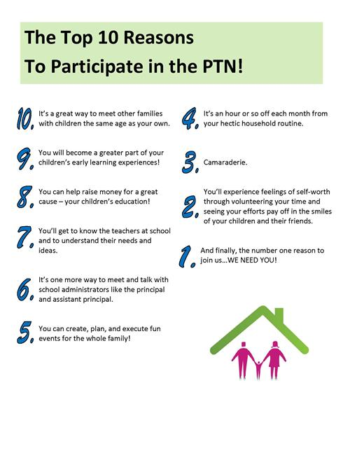 Top Ten Reasons to Join the PTN