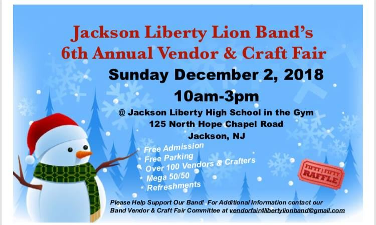 Liberty Lion Band Annual Vendor & Craft Fair
