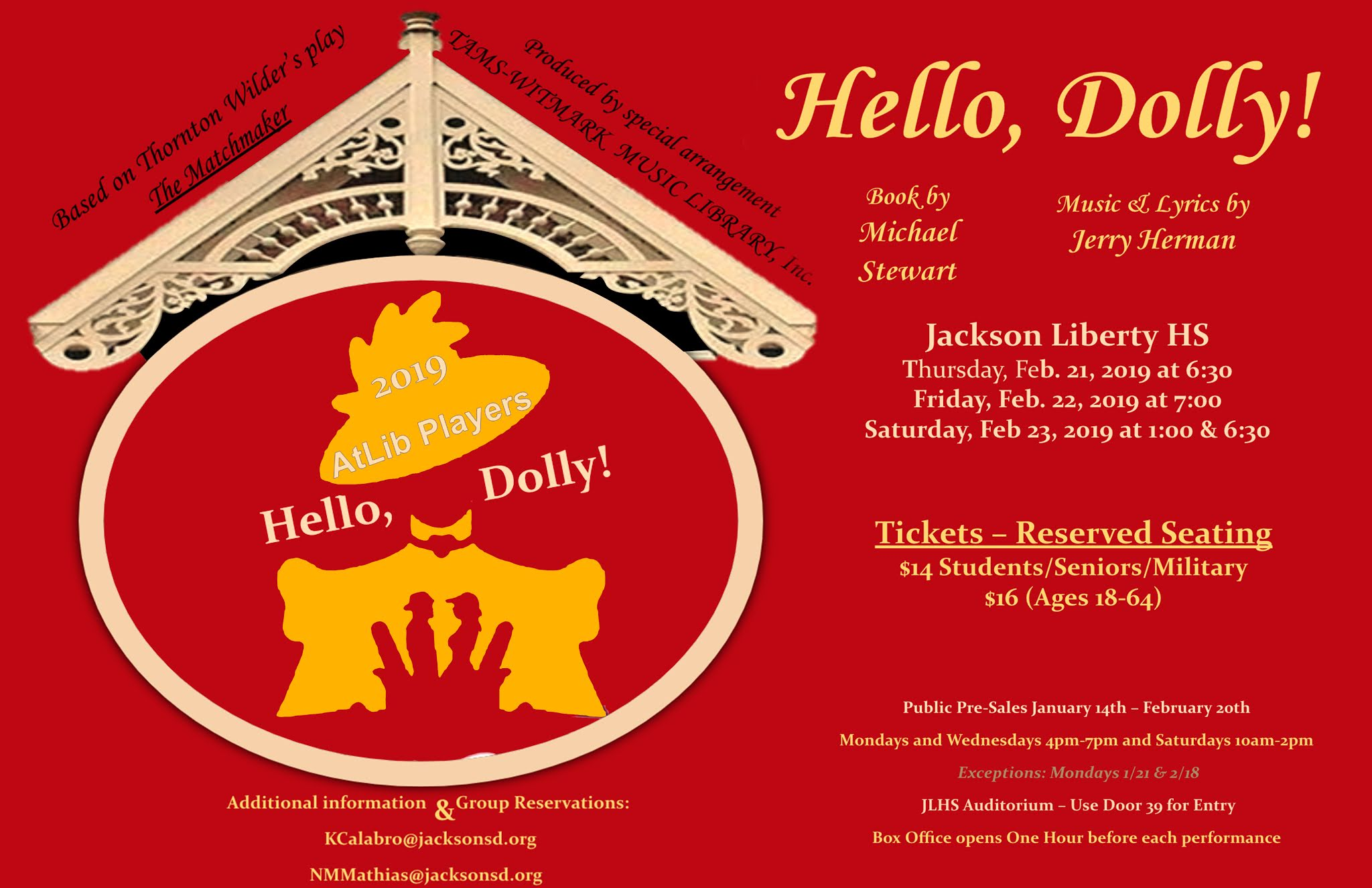 Poster for Hello Dolly play