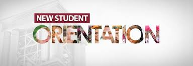 New Student Orientation-Aug 30th @ 9 am