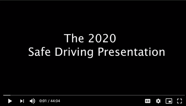 first frame of safe driving video