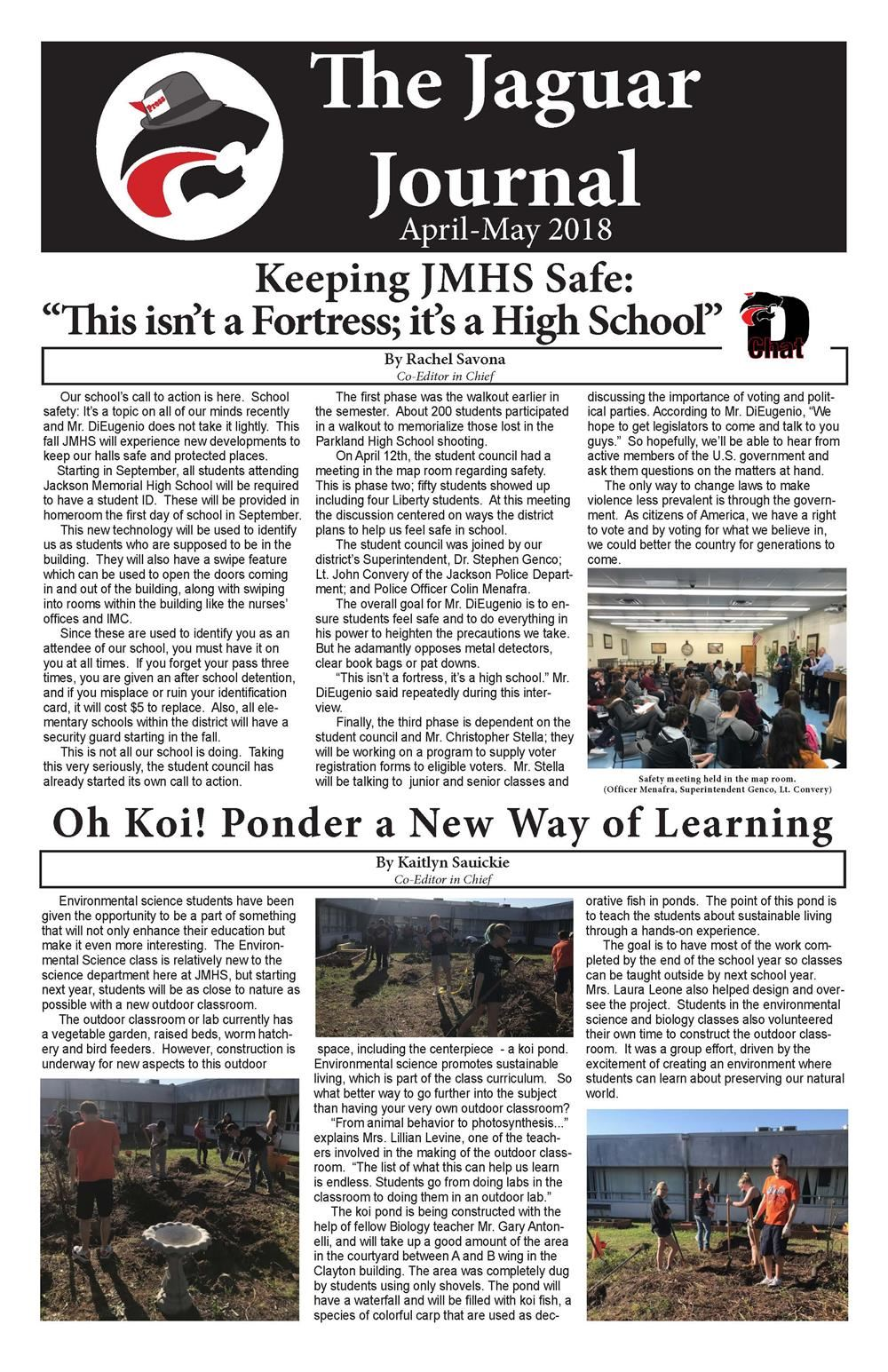jaguar journal front page of may edition