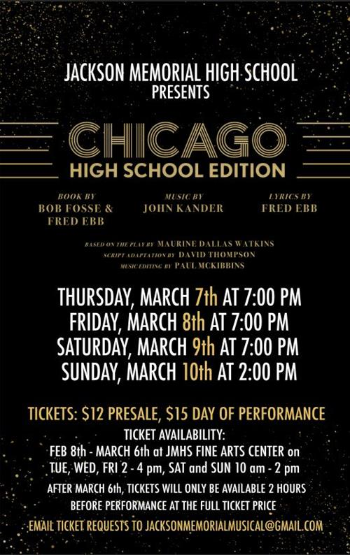 poster for chicago play
