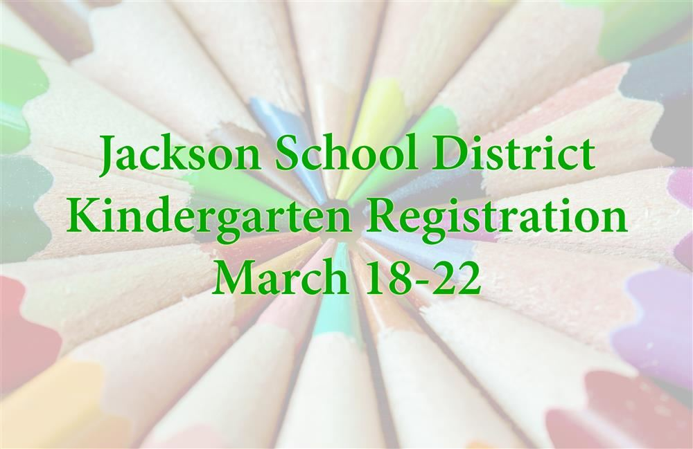 Colored pencils with the words kindergarten registration over them