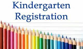Kindergarten registration sign with colored pencils