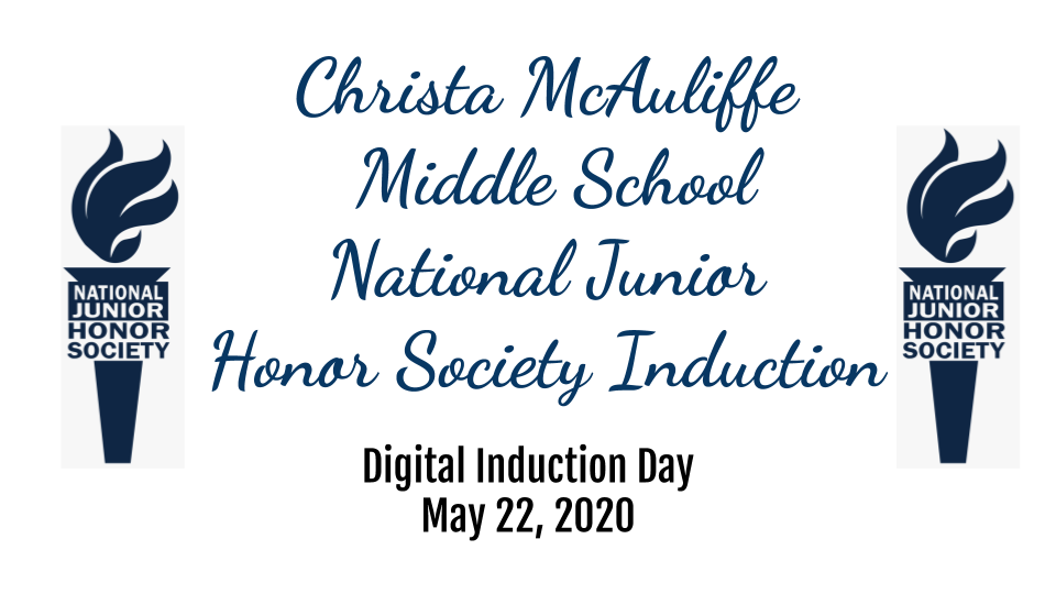 cover slide of National Junior Honor Society Induction