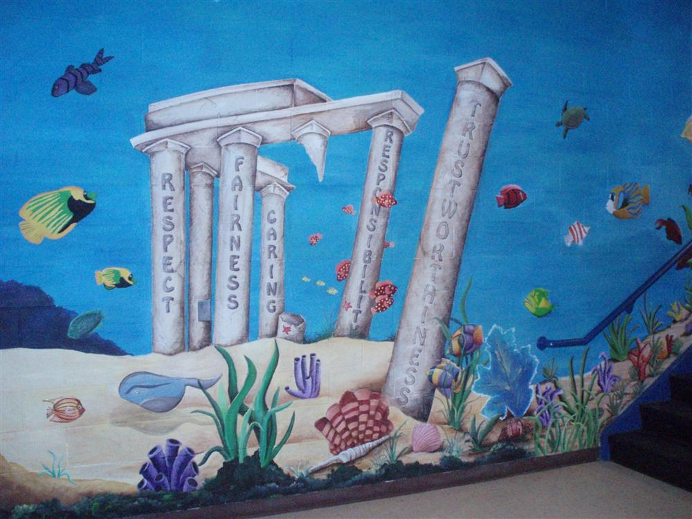 Under the Sea Mural Pillars of Character