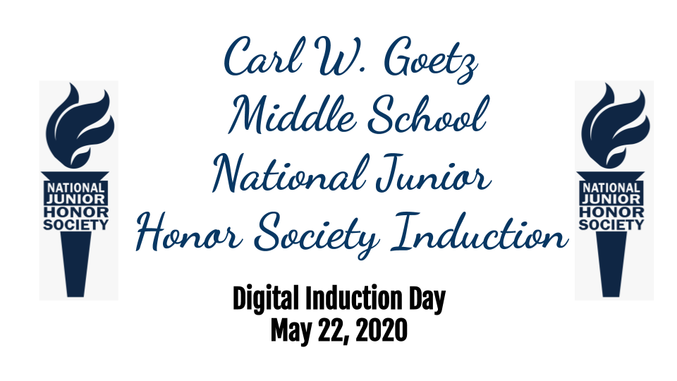 title slide of National Junior Honor Society Induction