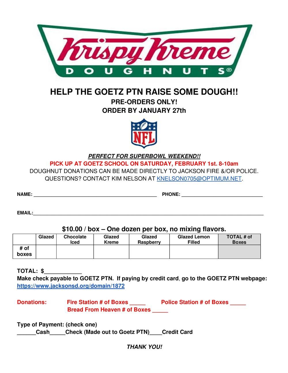 flyer advertising krispy kreme fundraiser
