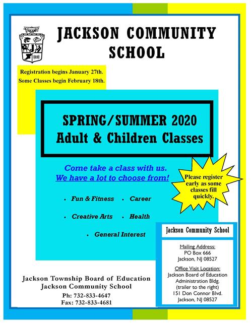 Cover page of spring and summer brochure