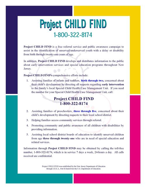 Child Find Fact Sheet Image