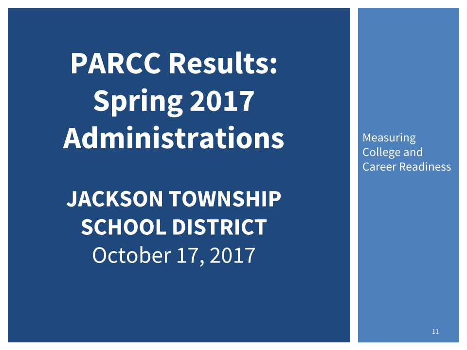 Image of Cover of PARCC Scores report which links to report