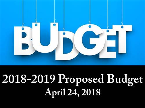 Budget Slide Show Image showing the word budget on strings