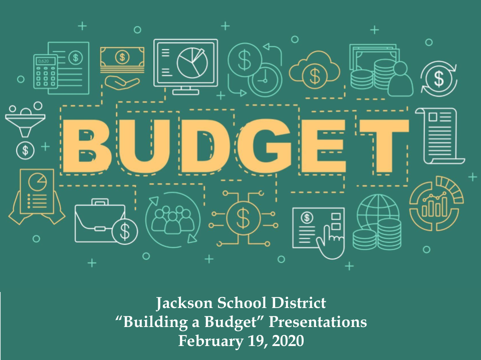 cover for presentation on budgets for curriculum, guidance, technology, athletics, special education