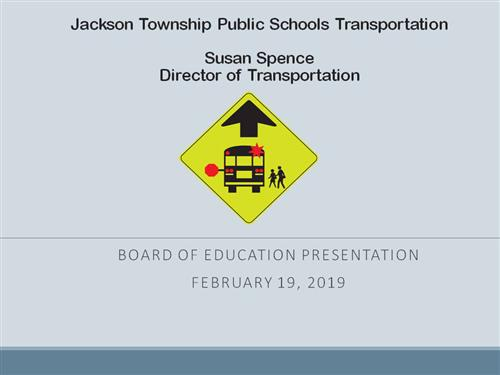cover page for transportation presentation