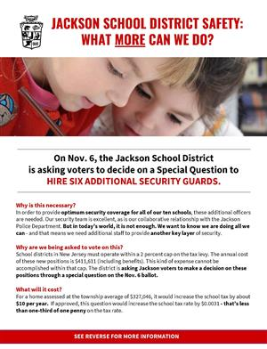 first page of informational flyer on special question