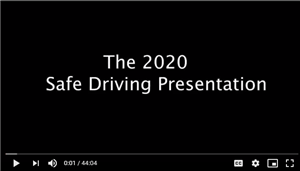 safe driving video opening frame