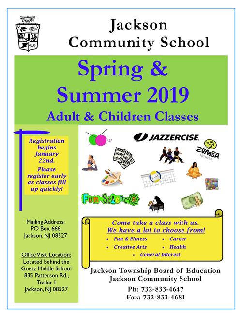 Community School Spring and Summer Brochure Cover Page
