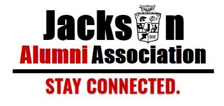 logo for the Jackson Alumni Association with district crest
