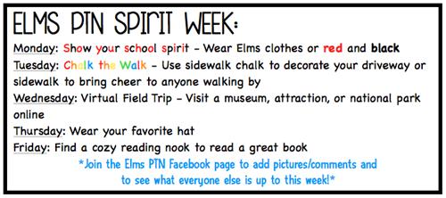 Elms Spirit Week