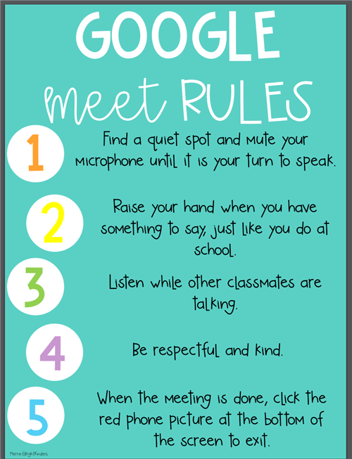 Google Meet Rules