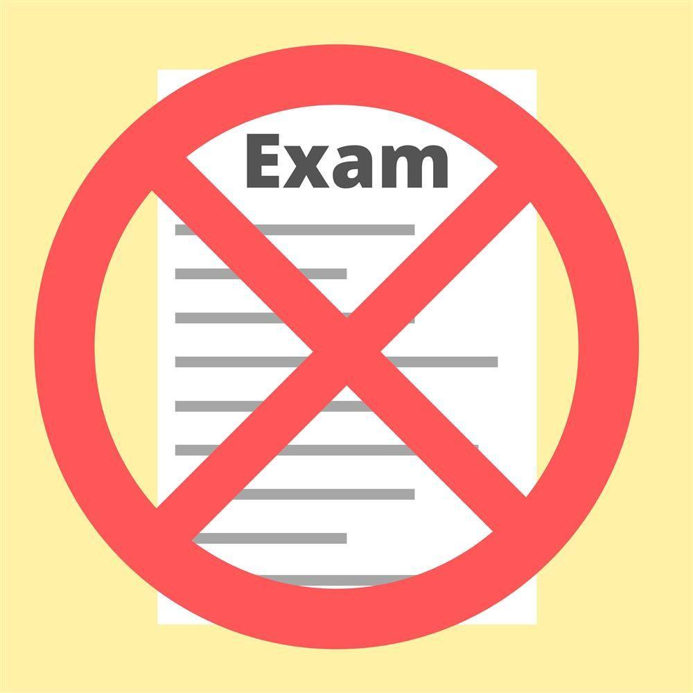 icon showing canceled exam
