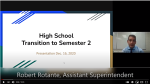screenshot of video for HS transition
