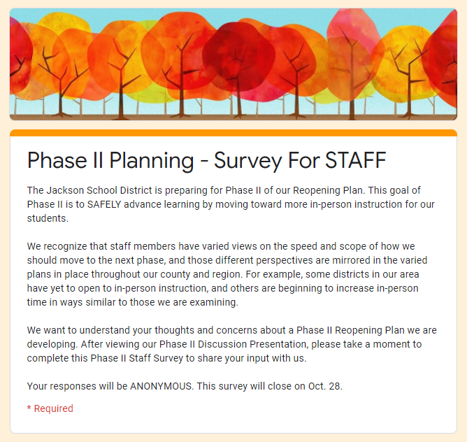 cover of phase 2 staff survey