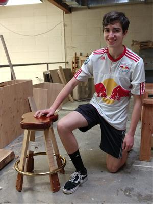Ben and his Stool
