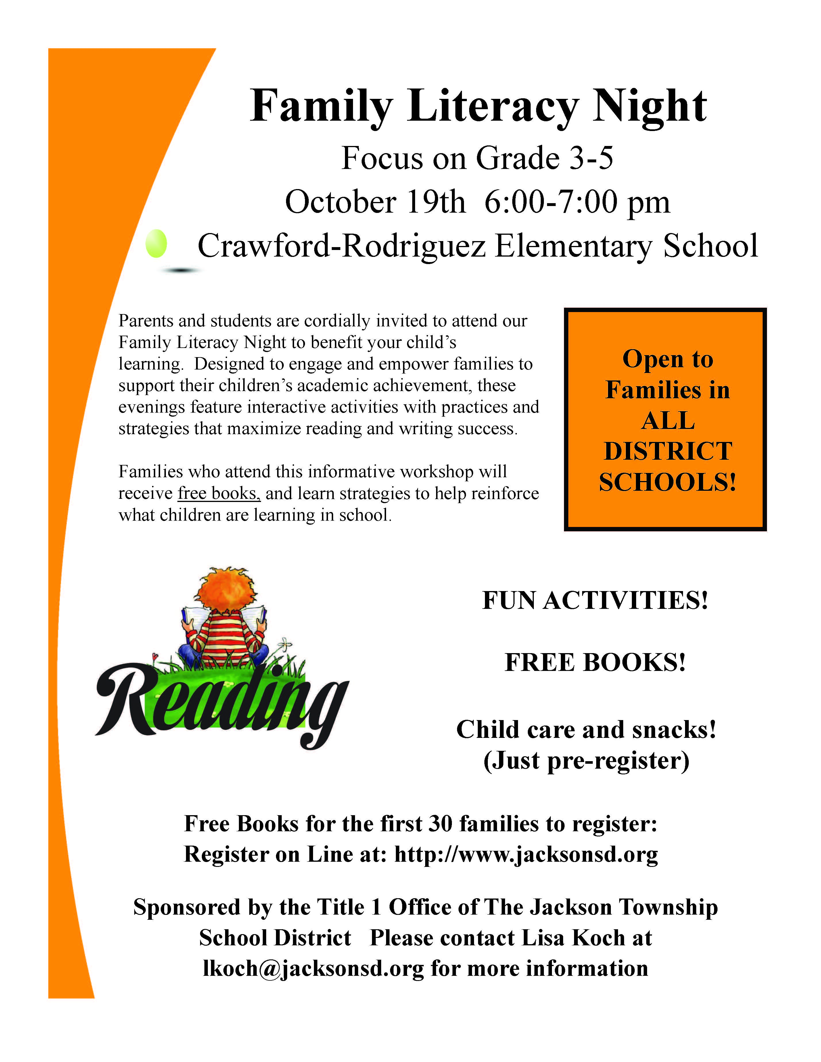 Family Literacy - Oct. 19th